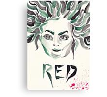 "Galina ""Red"" Reznikov (OITNB) (watercolour/aquarelle and ink) Canvas Print"
