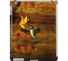Hovering Hummingbird Cottage Scene iPad Case/Skin
