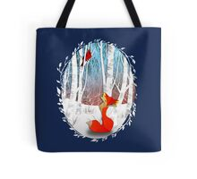 The Cardinal and The Fox Tote Bag