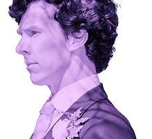 Edited Stock Photo of Sherlock Holmes (Purple) by Zorxas