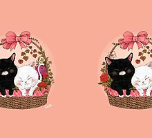 Basket of kittens by ednama