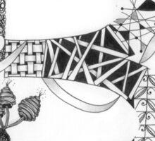 Zentangle®-Inspired Art - Tangled Alphabet - B Sticker