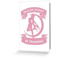 Sailor scout in training 2 Greeting Card