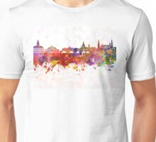 Dresden skyline in watercolor background Unisex T-Shirt