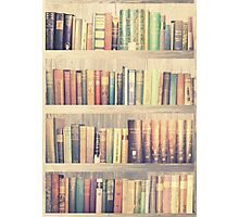 Dream with Books - Love of Reading Bookshelf Photographic Print
