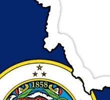Minnesota flag Idaho outline Sticker
