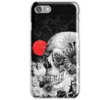 Fire in the dark, night skull iPhone Case/Skin