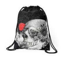 Fire in the dark, night skull Drawstring Bag
