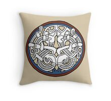Entwined Viking Pendant Throw Pillow
