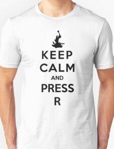 Keep Calm And Press R Unisex T-Shirt