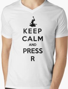 Keep Calm And Press R Mens V-Neck T-Shirt