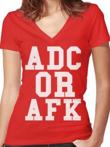 Adc Or Afk Women's Fitted V-Neck T-Shirt