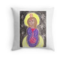 Diosa Maria del Corazon Sagrado  Throw Pillow