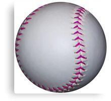 Pink Stitches Softball / Baseball Canvas Print