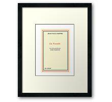 Nausea - Jean-Paul Sartre Framed Print