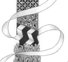 Zentangle®-Inspired Art - Tangled Alphabet - I Sticker