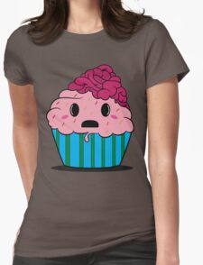 Cupcake brains Womens Fitted T-Shirt