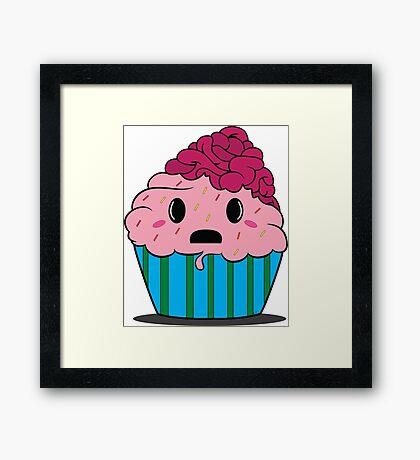 Cupcake brains Framed Print