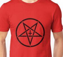 Pentagram with Upside Down Cross Unisex T-Shirt