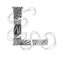Zentangle®-Inspired Art - Tangled Alphabet - L Photographic Print