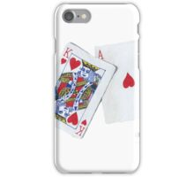 King and Ace of Hearts iPhone Case/Skin