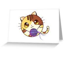 Cute Cartoon cat Greeting Card