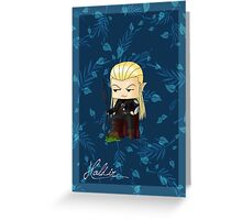Chibi Haldir Greeting Card