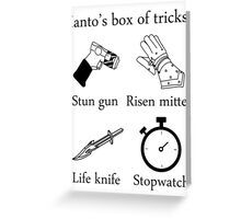 Ianto's box of tricks Greeting Card