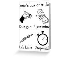 Ianto's box of tricks Greeting Card