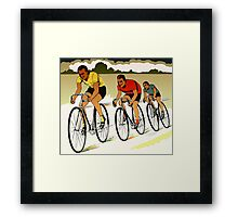 The race (cycling) retro vector art Framed Print