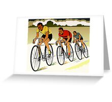 The race (cycling) retro vector art Greeting Card