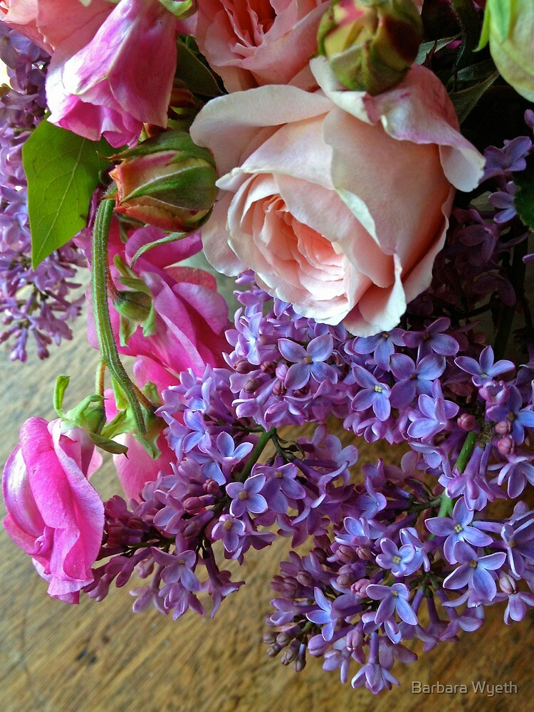 Sweet Pea, Roses, and Lilac by Barbara Wyeth