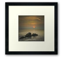 Sorel Rocks at Sunset by Gary Stringfellow Framed Print
