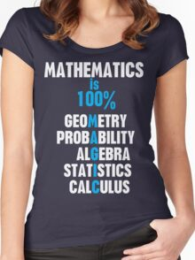 Mathematics Women's Fitted Scoop T-Shirt