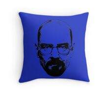 Walter White & Black (No White) Throw Pillow