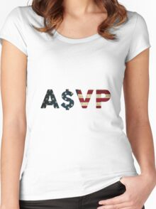 ASAP USA Women's Fitted Scoop T-Shirt