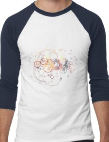 Time Lord Writing (blue) Men's Baseball ¾ T-Shirt