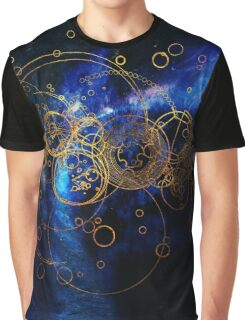 Time Lord Writing (blue) Graphic T-Shirt