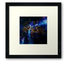 Time Lord Writing Framed Print