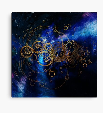 Time Lord Writing (blue) Canvas Print