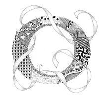 Zentangle®-Inspired Art - Tangled Alphabet - O Photographic Print