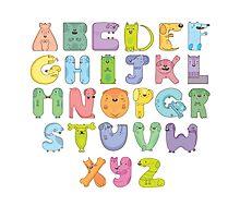 Dog alphabet Photographic Print