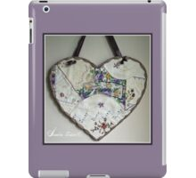 Crazy Quilt Heart With Embroidery Stitches For Friend iPad Case/Skin