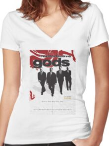 Red and Suave Gods- Bill Shankly, Bob Paisley, Joe Fagan & Ronnie Moran Women's Fitted V-Neck T-Shirt
