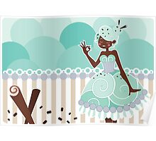 Ice Cream Princesses - Mint Chocolate Chip Poster