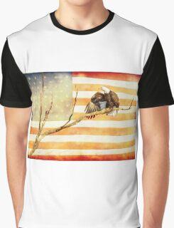 American Bald Eagle Salute Graphic T-Shirt