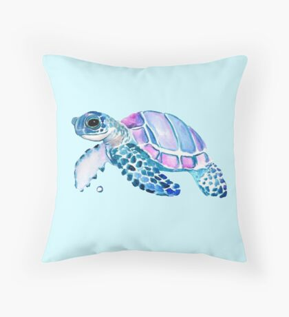 Lovely Turtle Throw Pillow