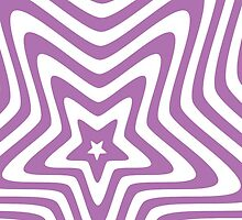 purple and white star illusion background by elgreko