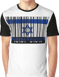Israel Barcode Graphic T-Shirt