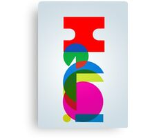 Hello ! Colorful Abstract typography  Canvas Print